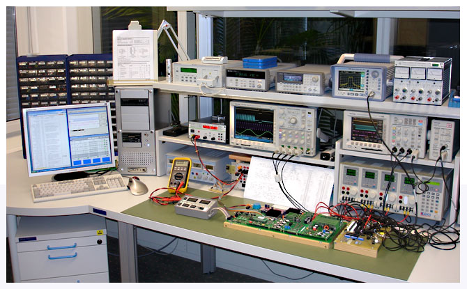 work bench for individual function tests and adjustments - TUCHSCHERER ELEKTRONIK GMBH