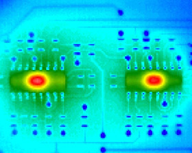 thermal image of board